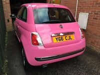 Pink fiat 500 for sale