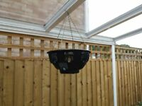 Four hanging baskets