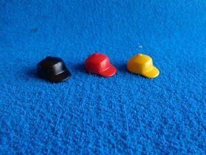 Playmobil-3-gorros-nino-nina-negro-rojo-amarillo-kids-hat-cap-Kindermutze-Kappe