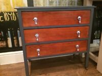 RESTORED VINTAGE CHEST OF DRAWERS - EXCELLENT CONDITION - CAN DELIVER