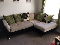 Great condition Corner Sofa with matching Revolving Chair