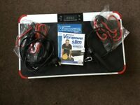 Vibration plate used twice as new with video remote control