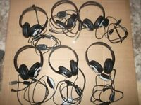 Microsoft LifeChat LX-3000 DIGITAL USB HEADSETs x 6 USED IN GOOD CONDITION