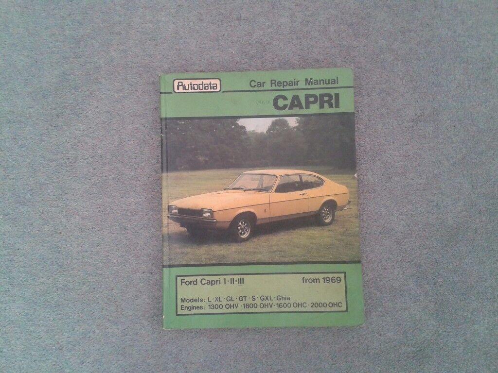 Ford Capri Autodata Workshop Manual.
