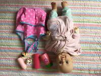 Baby Doll And bath set