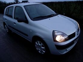 2003 RENAULT CLIO1.2 AUTHENTIQUE, 5 door.
