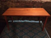 Antique original double wooden school desk