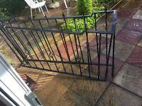 2 iron railings