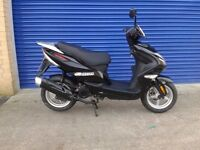 2015 direct bikes spyder 50cc moped scooter very low miles only 12 months old