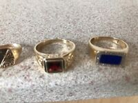 Men's gold rings all 9ct hallmarked