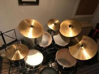 Olympic Premier drum kit with spare cymbals