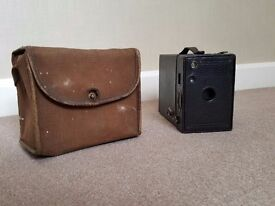 Brownie no. 2a Box Camera with case