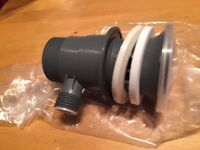 Chrome Rod Lever Pop Up Slotted Sink Waste bathroom plug , NEW