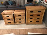 Baku Light Bedroom Range. King bed set. Oak Furniture Land, Mercer.
