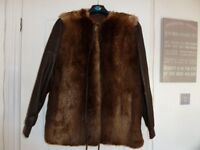 Leather/Fur fully Lined Jacket