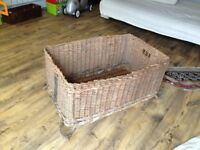 Victorian linen basket