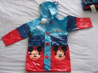 Mickey Mouse rainjacket and cosy hoodie for sale, for boys/girls 2-3 years, BNWT