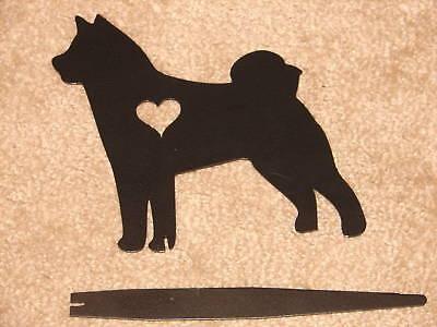 AKITA PET DOG MEMORIAL GARDEN YARD LAWN ORNAMENT STAKE
