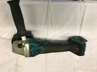 Makita DGA456 Angle Grinder + 5ah battery + stacking carry case.