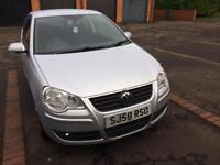 Vw Polo Match 1.4 TDI Diesel 2008 58 Reg Silver in very good condition