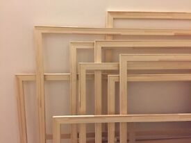 Absolutely perfect SET OF 9 VERY LARGE & XL ARTIST'S FRAMES - NATURAL WOOD