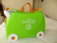 Green trunky suitcase