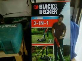 Black&decker 3-in1strimmer mower edger