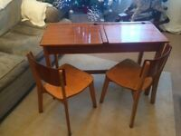 Twin School Desk and Chairs vintage