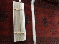 Wooden cream venetian blinds