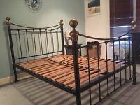 KING SIZE METAL ORNAMENTAL BED FRAME