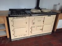 AGA Cream Classic (2 oil oven with 4 gas hob, 2 electric oven module)