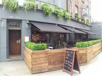 Experienced waiting staff required for north London gastro pub with potential live in