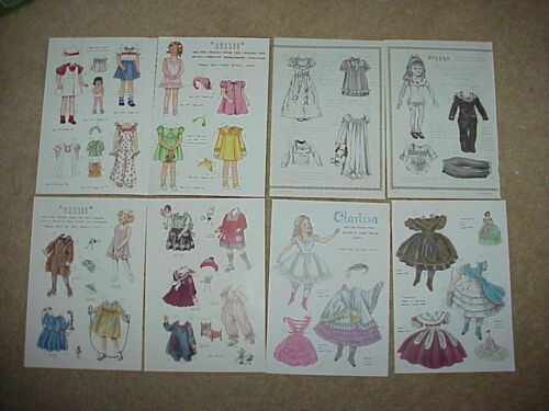 LOT  Vintage Pat Stall Paper Dolls