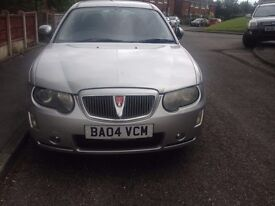 rover 75 only 50900 miles on clock