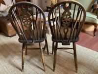6 wooden retro dining chairs