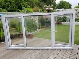 "Nearly new double glazed windows. Size 2.21m X 1.19m (87""x46"") buyer to collect. £300 ono"