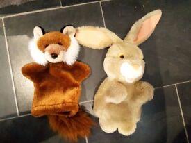Hand Puppet Rabbit Fox