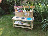 Handmade Personalised kiddies garden mud kitchen.