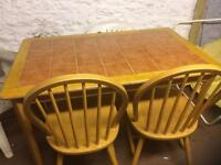 Tiled Top Table and 4 Chairs
