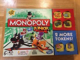 Monopoly Junior board game. Excellent condition