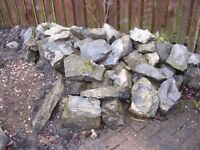 Rocks for rockery or pond