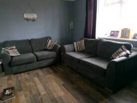 Grey 2 and 3 seater sofa
