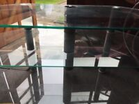 Glass and chrome TV corner unit