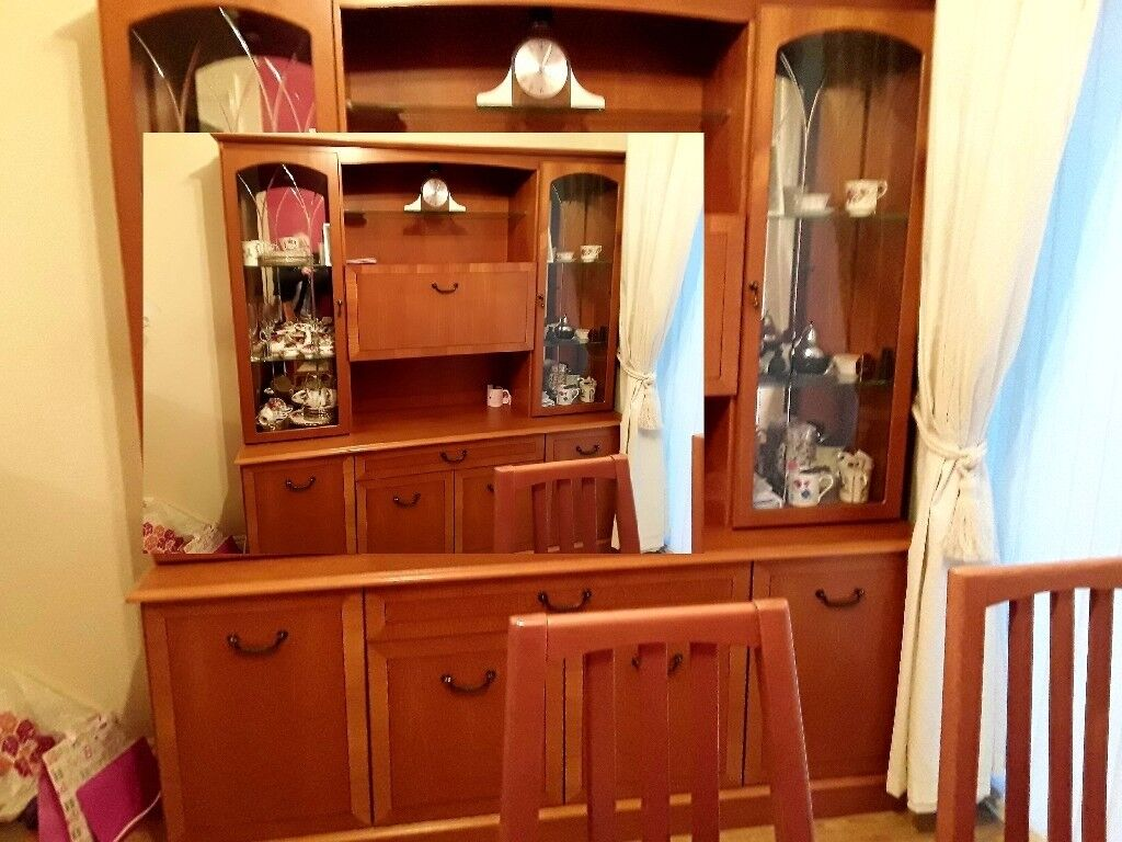 Solid teak wall unit by morris furniture