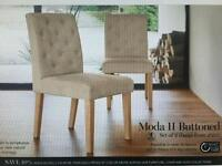 2 NEXT Moda II Buttoned Dining Chairs