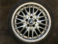 "Genuine BMW E46 MV1 18"" single rear alloy wheel 8.5Jx18 5x120 330 328 325 318"