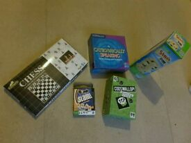 BOARD GAME BUNDLE x5 - CHESS, BOGGLE SLAM, STACK EM, CATEGORICALLY SPEAKING, CODSWALLOP