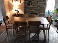 Freedom Sterling Dining Table and Chairs (6 seater)