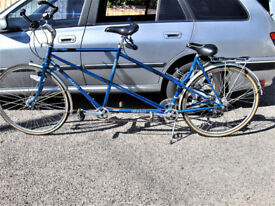TANDEM BICYCLE.GOOD WORKING ORDER.FREE DELI VERY B,MOUTH POOLE LYMINGTON AREAS