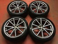 19'' GENUINE AUDI A4 S LINE B8 BLACK EDITION RS4C ALLOY WHEELS ALLOYS TYRES B9 5X112
